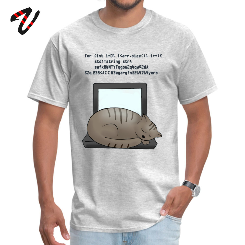 Coding Cat Retro Boy T Shirt O-Neck Short Sleeve All Cotton Tops Shirts Casual Tops & Tees Free Shipping Coding Cat 7231 grey