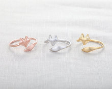 SMJEL 2017 New Fashion Cute Fire Fox Ring Adjustable Rings Animal Rings Cool Rings For Women Christmas Gift R017