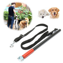 1PCS Fashion Nylon Dog Bicycle Traction Belt Rope Bike Attachment Pet Walk Run Jogging Lead Pet Leash Distance Keeper Hands Free