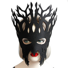 1PCS Hot Sales Black Sexy Lady Elegant Eye Face Mask Masquerade Ball Carnival Fancy Party Mask for Halloween Holiday(China)