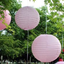 HOT Paper Lanterns 10PCS Pink Festival 12inch 30cm Wedding Decoration DIY Birthday Party Supply Pink Paper Lanterns