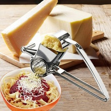 HOT Rotary Cheese Tools Stainless Steel Cheese Grater Slicer Shreds Drum Hand Held Ginger Graters Cutter Kitchen Utensils Toys