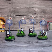 Miyazaki LED night light  reading lamp Japanese Anime Spirited Away home Decoration luminaria table lamp Handicraft faceless men