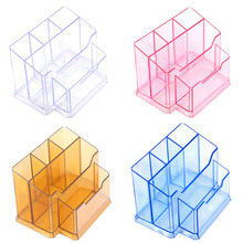 Pens Holders Acrylic Nail Art Tools Holder Box Files Brushes Display Organizer Polish Plastic Case Makeup Tool 14 x 10 cm(China)