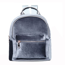 Fashion Simple Designer Backpack Soft Velour Solid Backpack Women Small Travel Backpacks Girls School Book Bag Rucksack Mochila(China)