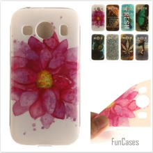Luxury High quality Soft TPU Butterfly flower phone Cases for Samsung Galaxy Ace 4 G357 G357FZ SM-G357FZ Rubber Silicon cover