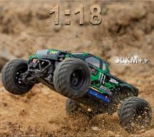 New Adult kids radio control racing car 1:18 scale 2.4g 4WD big foot 30KM/H high speed remote control off-road rc truck vs a979(China)