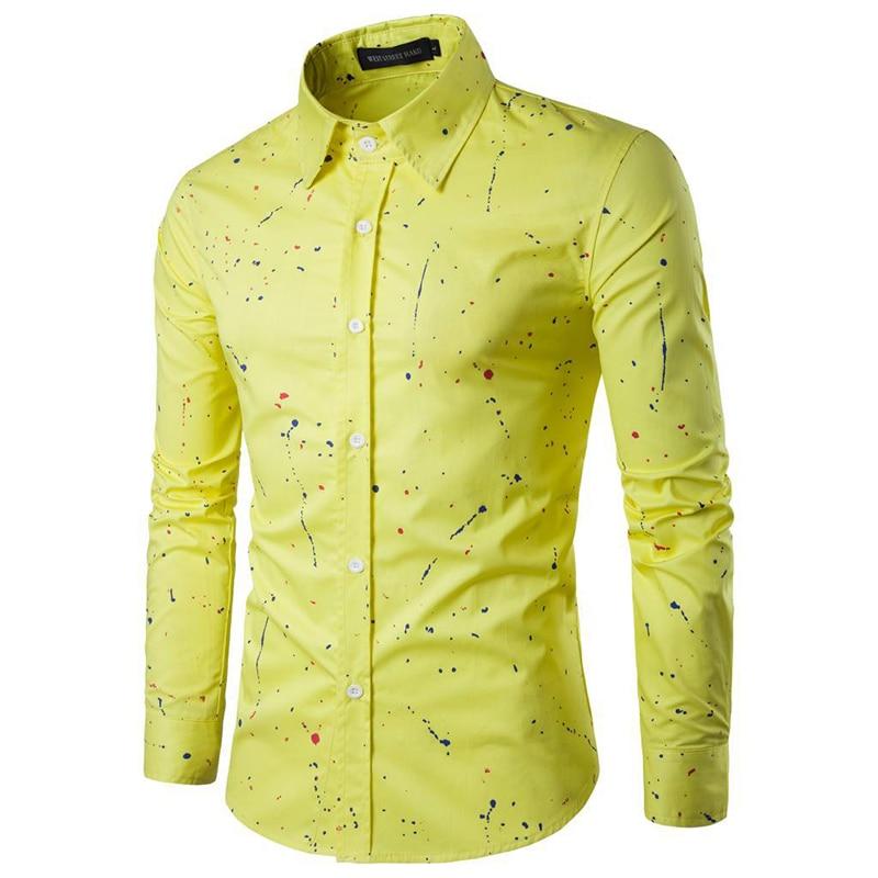 18 Print Men Casual Dress Shirts Long Sleeve Clothes Male Camisa Hombre Square Collar Blouse Plus Size 3XL 10