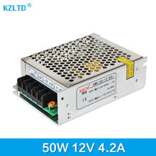 12V Power Supply 50W AC-DC 220V / 110V to 12V Universal Regulated Switching Power Supply for LED Light Radio Computer Project