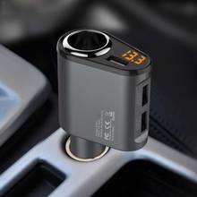 Car Charger 3 USB Ports  5V 3.1A Car-Charger 1 Socket Cigarette Lighter Splitter Quick Charger for mobile phone iPhone 7 Huawei