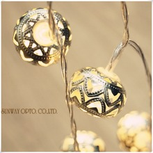 3.3M 20led Battery Operated Moroccan Orb LED Fairy String Lights Patio Wed Party Christmas lights Bedroom Holiday Decoration