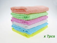 7PCS Super absorption hot sale promotion 100% cotton candy color hand towel useing kitchen cute 26x26cm cheap for wholesale