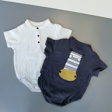 baby boys girls summer  Linen material baby summer clothes rompers newborn baby clothes jumpsuit