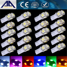 Newest 20pcs T10 DC12V 5050 5 SMD 194 168 W5W car styling 5smd LED Interior Lamp work Wedge Tail Lamp Xenon parking light
