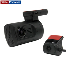 Conkim Mini 0906 Two Camera GPS Car DVR Registrar 1080P Full HD Rear View Camera Capacitor Dual Lens DVR Parking Guard Sensor