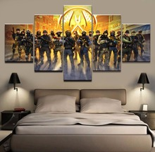 5 piece canvas painting counter Strike game HD posters and prints christmas decorations for home free shipping XA2221B