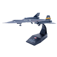 Mnotht 1:144 SR-71 Blackbird Reconnaissance Aircraft Model Toy Diecast Alloy Fighter Toy For Gift/Collection l30 Aircraft Model