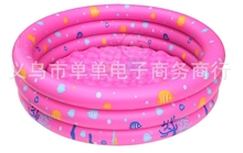Intime Kids Swimming Pool Inflatable Kiddies Outdoor Activities Pool Ocean Balls Play Pool 150cm Blue Pink Green Printed(China)