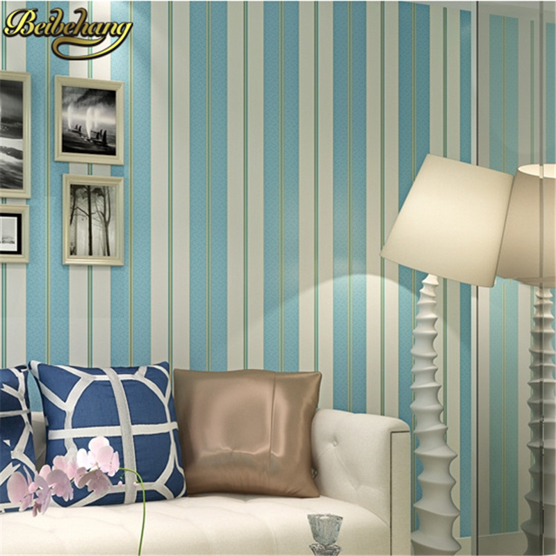 beibehang Modern simple wide stripe wallpaper for living room bedroom tv background home decor wall paper papel de parede 3d<br>