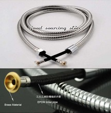 High quality stainless steel EPDM shower hose 1.5m, shower pipe(China)