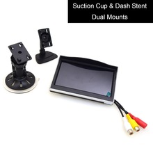 "5"" Car Monitor 12-24V Truck In-Car TFT LCD Screen Suction Cup & Dash Stand for Backup Camera DVD Media Player(China)"