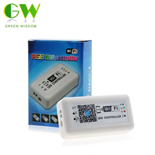 RGB WiFi Led Controller DC12-24V With 21Key RF Control Smart RGB Dimmer For RGB LED Strip(China)