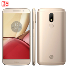 Unlocked Motorola Moto M XT1662 Mobile phone 4GB+32GB Octa Core 4G LTE Dual SIM 5.5'' 16.0MP Fingerprint Smartphone 3050mAh