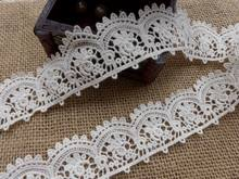 New Arrival Hot Sale Cotton Embroidered Lace Trim Hollow Out Lace Trim For Bridal Veils,Altered Art,Couture(China)