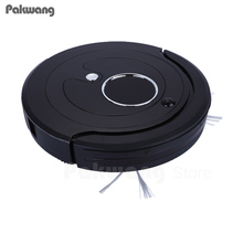 2017 new LED wireless robot vacuum cleaner for home or office washing swivel sweeper floor cleaning robot,air cleaner(China)