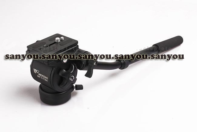 New WEIFENG WF-717AH Photography Video DSLR Camcorder Fluid Tripod Head Drag+ Handle<br><br>Aliexpress