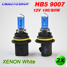 2 x HB5 9007 Super White 12V 100/80W Car Halogen Lamps Automotive Bulbs Headlights Dark Blue Glass