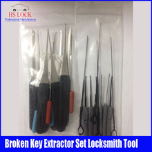 Best Lockman 12Pcs +10 PCS Lock Broken Key Extractor Remove Removal Hooks Locksmith Tool Set(China)