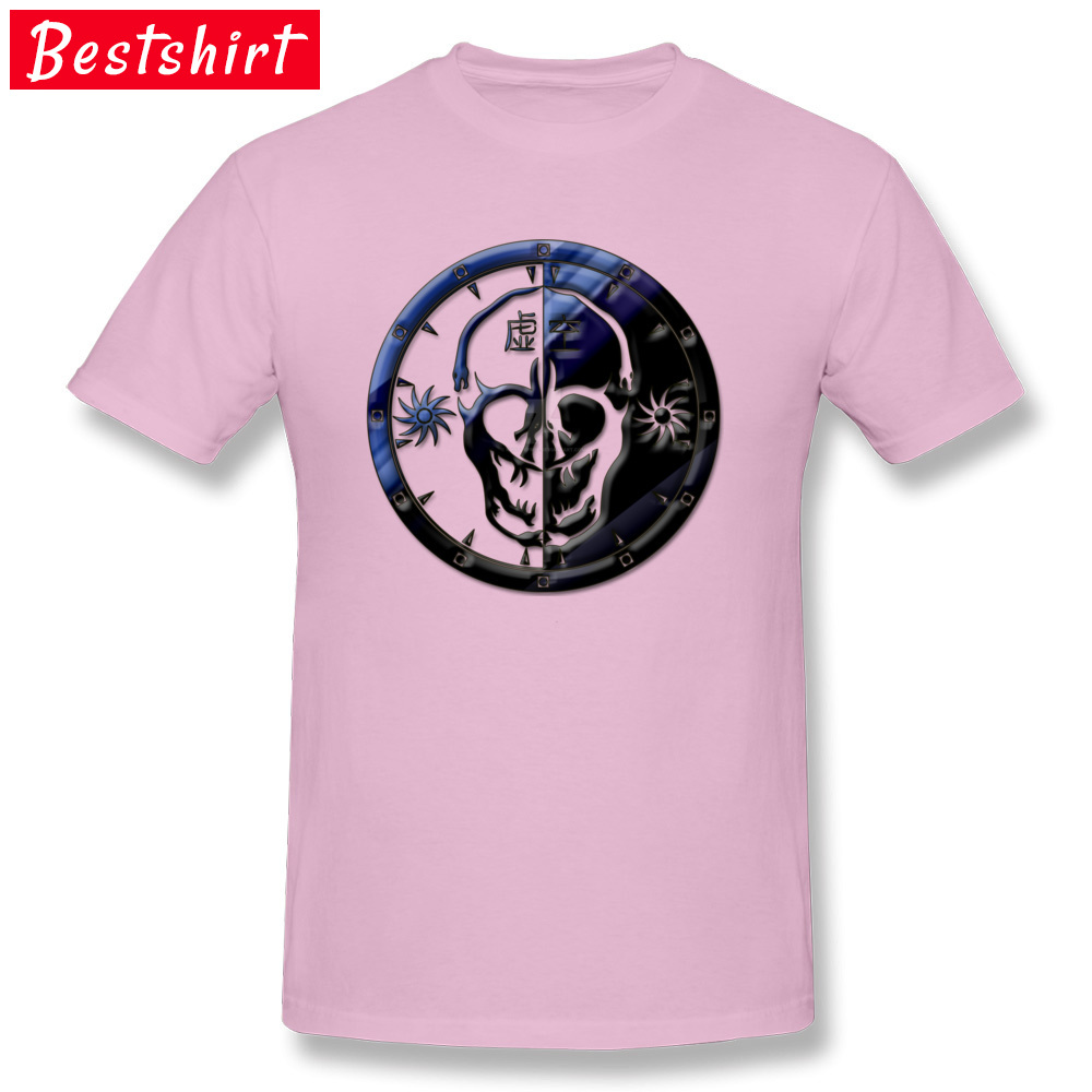 Void Clan Emblem Pure Cotton Family Tops & Tees Prevalent Short Sleeve Mens Tshirts Casual April FOOL DAY T Shirt O Neck Void Clan Emblem  pink