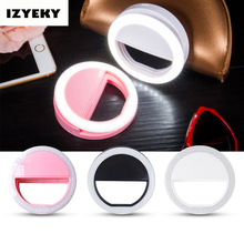 IZYEKY Luminous LED Selfie Ring Light Up for samsung galaxy S8 plus s7 S6 edge S5 S4 S3 Selfie Phone Case for Motorola Sony LG(China)