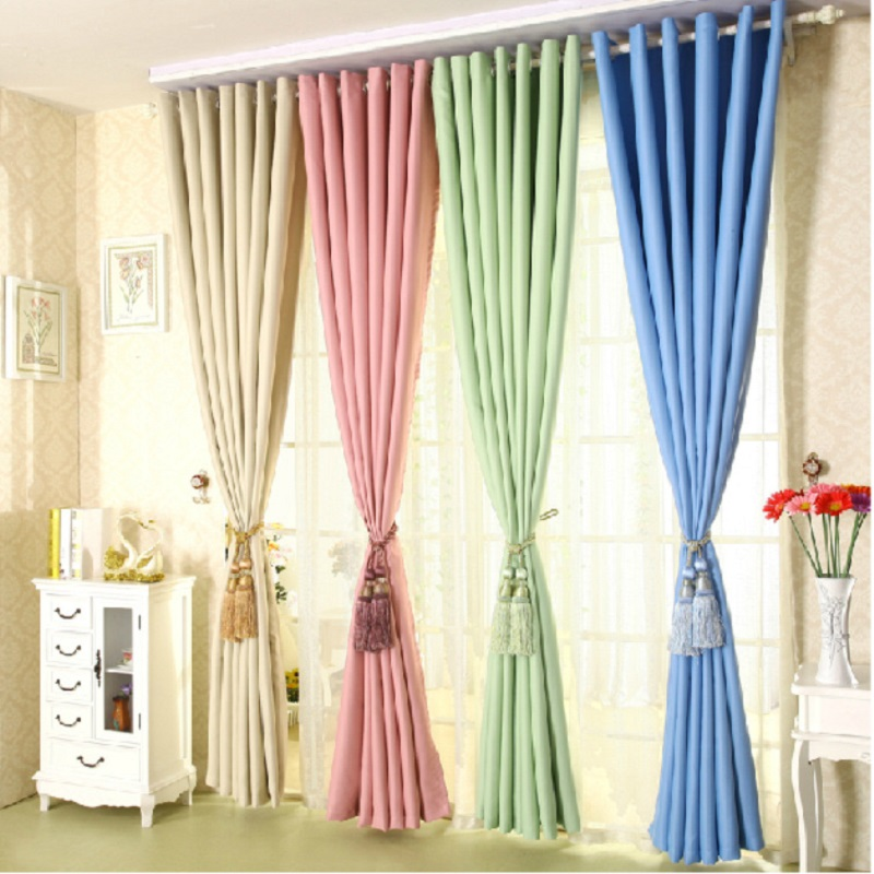 Free shipping 2017 New Curtain high-grade solid thick curtains for Living Dining Room bedroom shade insulation Fabric 1 meter/PC(China (Mainland))