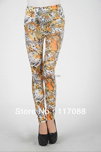 Top quality ML7598 Free Shipping Fashion designer pants for woman stretch pants Bright Leopard legging