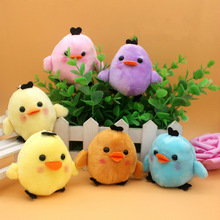 5Pcs/Set Kawaii Kids Stuffed Animal Plush Toys The Chicken Toy Cute Chicken Dolls Christmas Gifts Phone Key Pendant Random Color