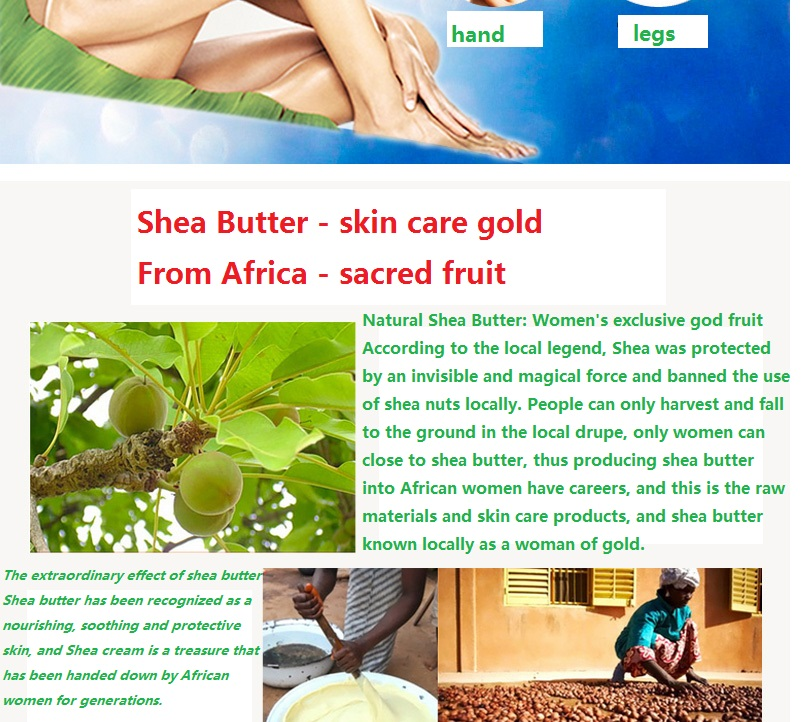 YaFuYan Shea Butter Moisturizing & nourishing Body Lotion Replenishment Body odor Lotus Whitening milk Exfoliating skin 8