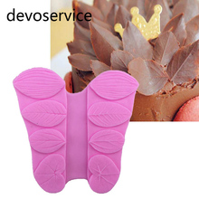 Leaves Flower Texture Liquid Silicone Mold DIY Polymer Clay Candy Chocolate Fondant Gumpaste Baking Moulds Cake Decoration Tools