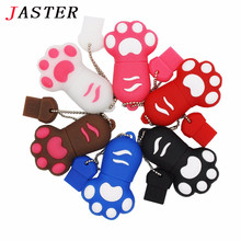 JASTER Cute! 5 colors lovely paw usb flash drive cat claw pen drive 4GB 8GB 16GB cartoon memory stick U disk gift for birthday