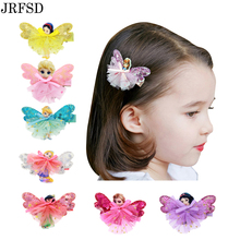 JRFSD 1pcs Cute Flower Hair Clip Cartoon Images Hair Pins Princess Mini Dress Hairgrip Kids Hair Accessories BM-3(China)