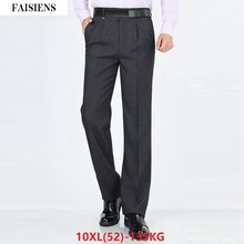 FAISIENS Men Large Size Big Suit Pants Trousers 8XL 9XL 10XL Classic Casual Summer