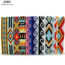 AMIU Handmade Friendship Bracelet Bohemia Style Hippy Bracelet Rope Popular String Seed Beads Bracelets For Women Men Christmas(China)