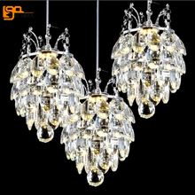 luxury design crystal hanging lamp modern LED pendant lights lustre dinning fixtures bar light