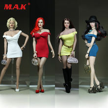 "Custom 1/6 Scale Marilyn Monroe Classic White Dress Mini Skirt Dress White/Black/Red/Blue for 12"" Big Bust Action Figures body(China)"