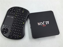 MXIV 4K Quad Core S905 Android TV BOX+500 Russian Keyboard 2.0GHz 2G/8G TV receiver 1080p Mush up youtube pre-install top tv box