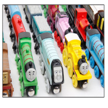 HEY FUNNY 6PCS/LOT New Thomas and Friends Anime Wooden Railway Trains Toy Model Great Kids Toys for Children Birthday Gifts