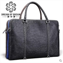 mengzhongmeng ostrich leather Man briefcase man ostrich leather men bag ostrich leather handbag man