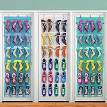 24 Pockets Shoes Storage Bags Hang Wall Organizer Case Durable Door Hanging Bags Household Storage Bag Container Organizer