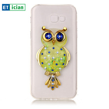 Buy Luxury Case Samsung A7 2017 Bling Glitter Owl TPU Stand Transparent Cover Samsung Galaxy A7 Phone Accessory Girls for $4.04 in AliExpress store
